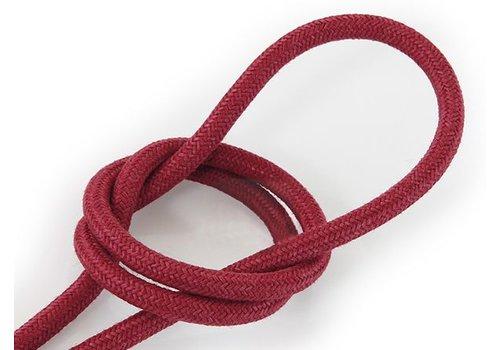 Fabric Cord Burgundy - round, linen