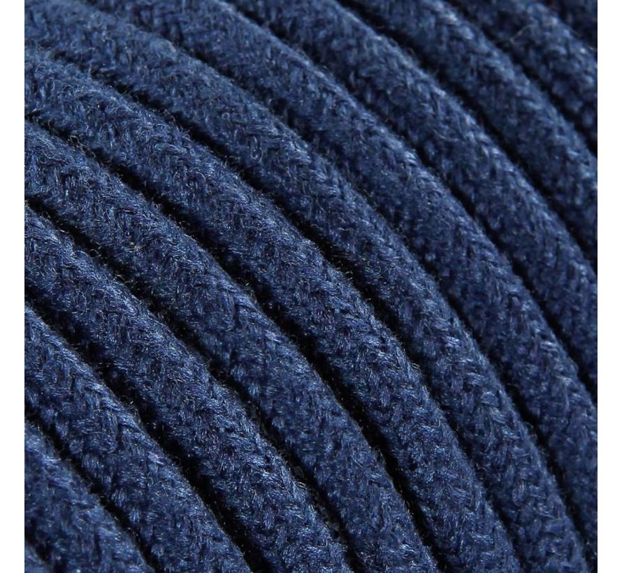 Fabric Cord Blue - round, linen