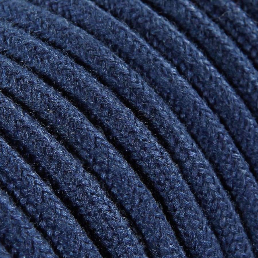 Strijkijzersnoer Donkerblauw - rond, linnen-2