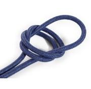 Kynda Light Fabric Cord Blue - round, linen