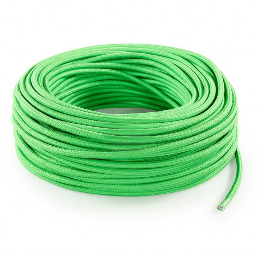 Fabric Cord Light Green - round, solid