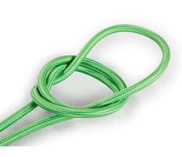 Kynda Light Fabric Cord Light Green - round, solid