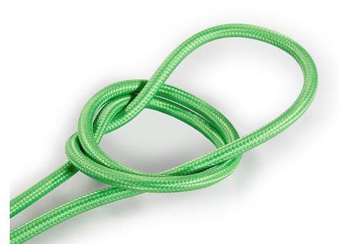 Strijkijzersnoer Licht groen - rond, effen stof (3-polig)