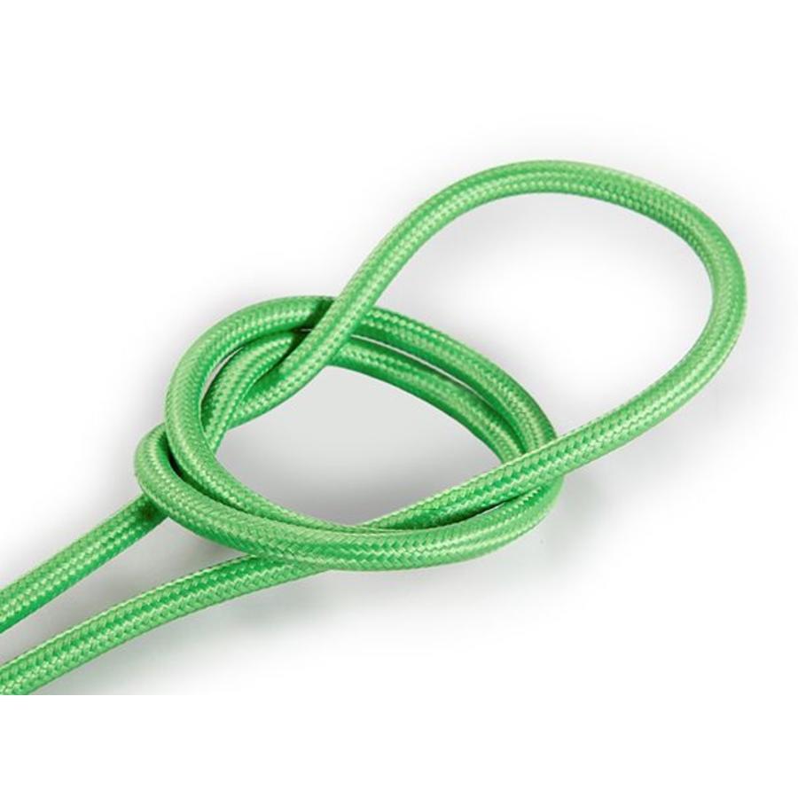 Strijkijzersnoer Licht groen - rond, effen stof