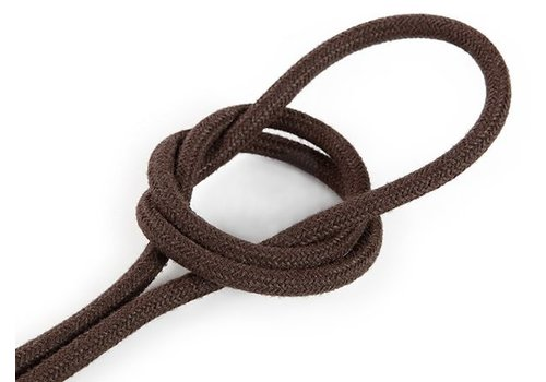 Fabric Cord Brown - round, linen