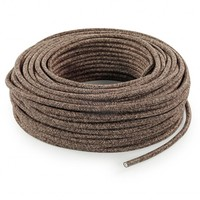 Fabric Cord Mixed Brown - round, linen