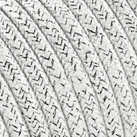 thumb-Fabric Cord White (glitter) - round, solid-2