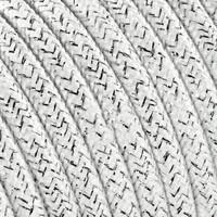 thumb-Strijkijzersnoer Wit (glitter) - rond, effen stof-2
