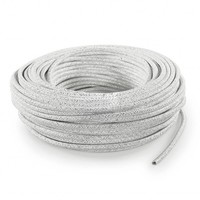 thumb-Fabric Cord White (glitter) - round, solid-3