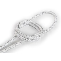 thumb-Fabric Cord White (glitter) - round, solid-1