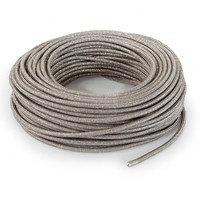Fabric Cord Sand (glitter) - round, solid