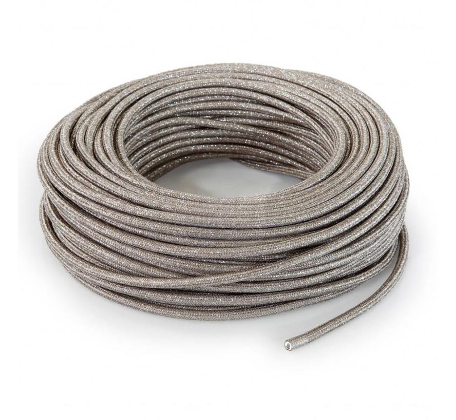 Fabric Cord Sand (glitter) - round, solid
