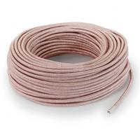 thumb-Strijkijzersnoer Roze (glitter) - rond, effen stof-3