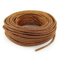 Fabric Cord Copper (glitter) - round, solid