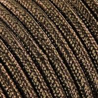 thumb-Strijkijzersnoer Bruin (glitter) - rond, effen stof-2