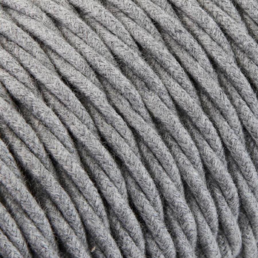 Strijkijzersnoer Grijs - gedraaid, linnen