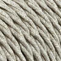 thumb-Strijkijzersnoer Beige - gedraaid, linnen-2