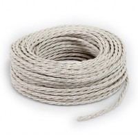 thumb-Fabric Cord Beige - twisted, linen-3