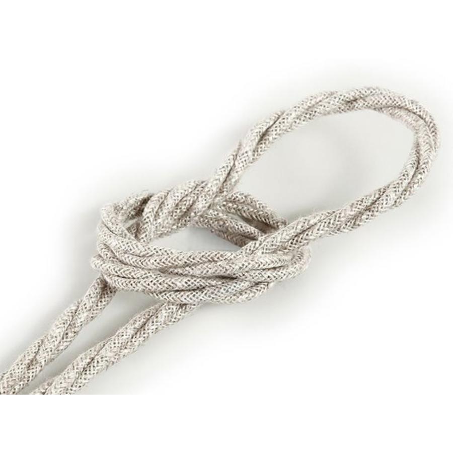 Strijkijzersnoer Beige - gedraaid, linnen-1