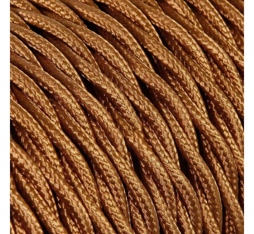Fabric Cord Whiskey - twisted, solid
