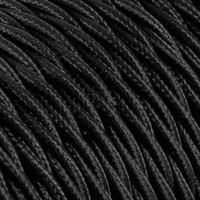 thumb-Fabric Cord Black - twisted, solid-2