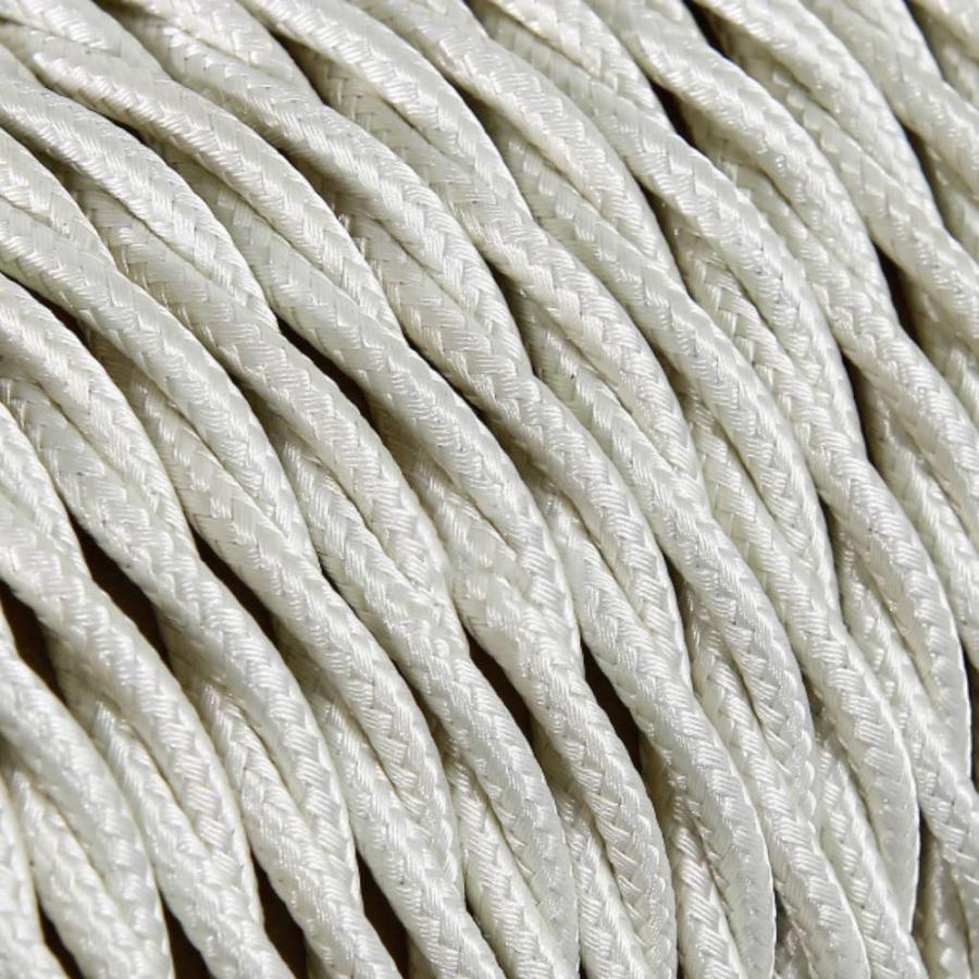Strijkijzersnoer Ivoor - gedraaid, effen