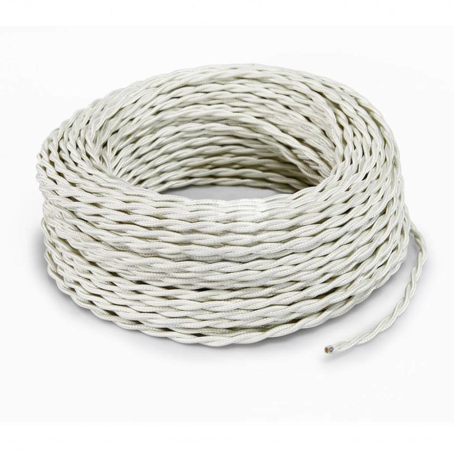 Fabric Cord Ivory - twisted, solid