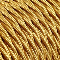 thumb-Fabric Cord Gold - twisted, solid-2
