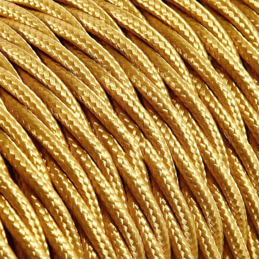 Strijkijzersnoer Goud - gedraaid, effen stof