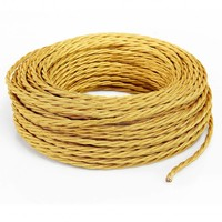 Fabric Cord Gold - twisted, solid