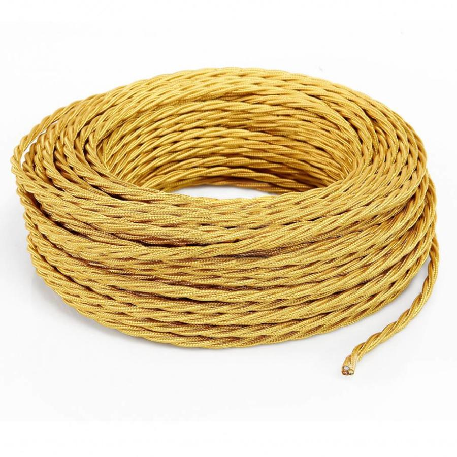 Fabric Cord Gold - twisted, solid-3
