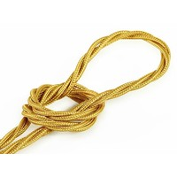 thumb-Fabric Cord Gold - twisted, solid-1