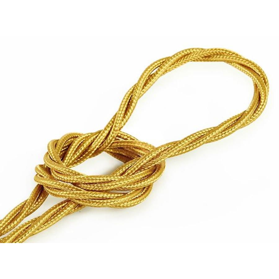 Fabric Cord Gold - twisted, solid-1