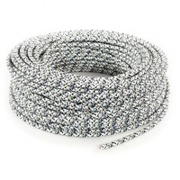 Fabric Cord White (pixelated) - round, solid