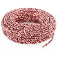Fabric Cord Pink (pixelated) - round, solid