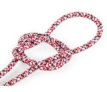 Kynda Light Fabric Cord Pink (pixelated) - round, solid