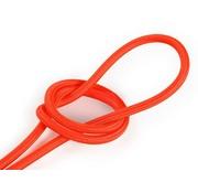 Kynda Light Fabric Cord Neon Orange - round, solid