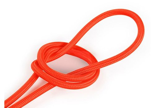 Fabric Cord Neon Orange - round, solid