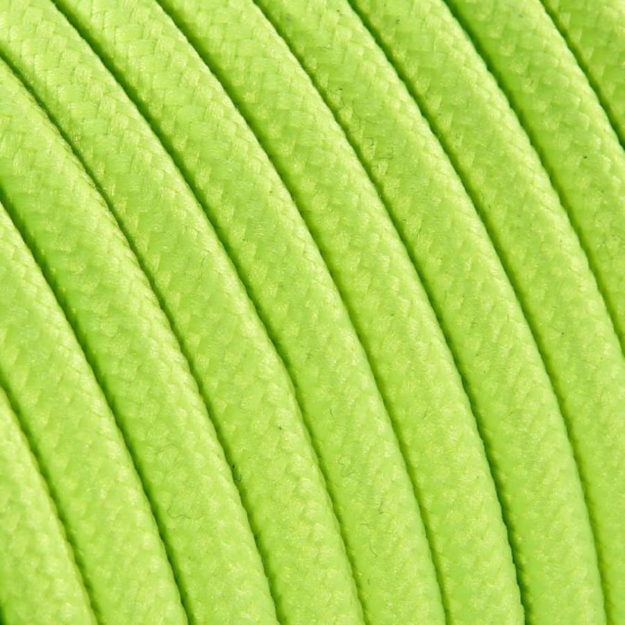 Strijkijzersnoer Fluor geel - rond, effen stof