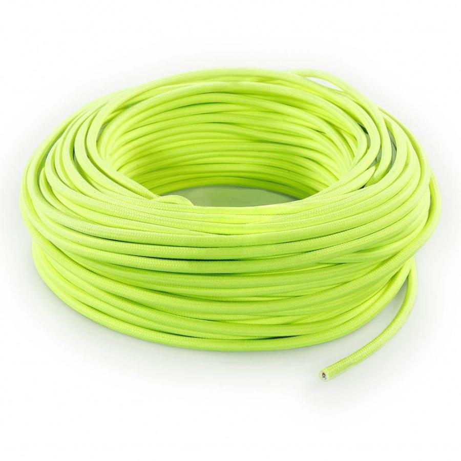 Fabric Cord Neon Yellow - round, solid-3