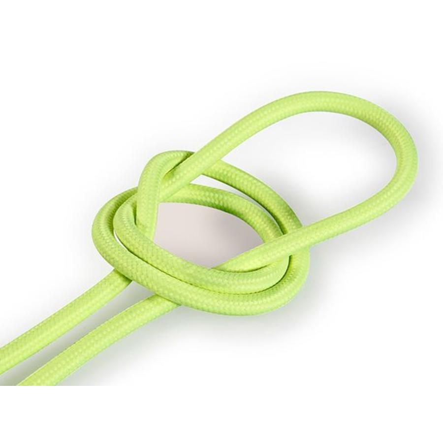 Fabric Cord Neon Yellow - round, solid-1
