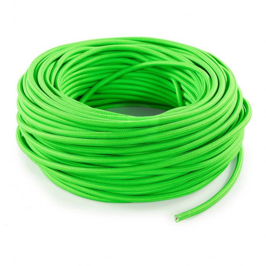 Fabric Cord Neon Green - round, solid