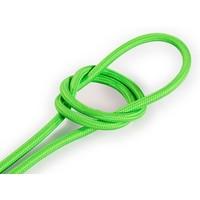 thumb-Strijkijzersnoer Fluor groen - rond, effen stof-1