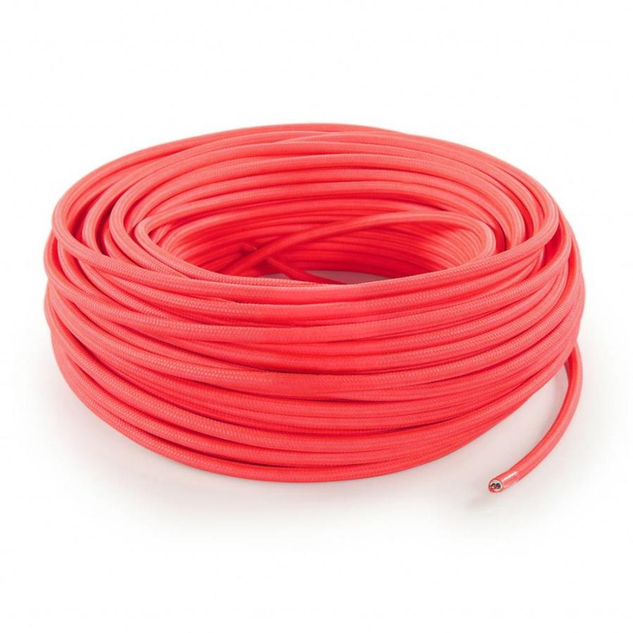 Fabric Cord Neon Pink - round, solid