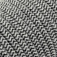 thumb-Fabric Cord Sand & Black - round, linen-2