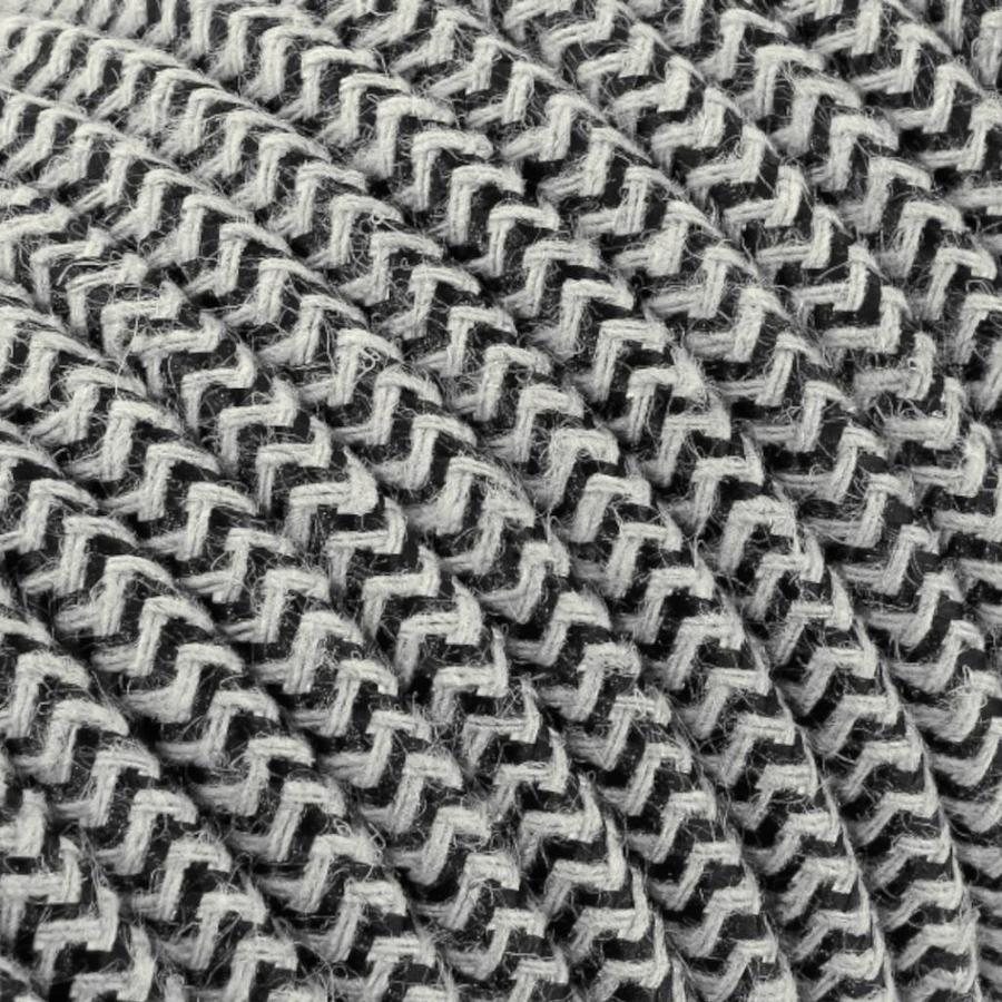 Fabric Cord Sand & Black - round, linen-2