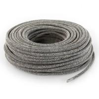 thumb-Fabric Cord Sand & Black - round, linen-3