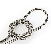 thumb-Fabric Cord Sand & Black - round, linen-1