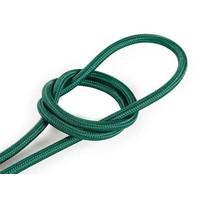 Fabric Cord Dark Green - round, solid