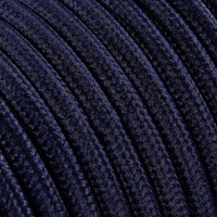 Fabric Cord Dark Blue - round, solid